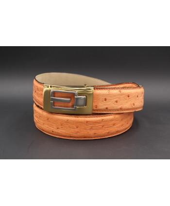 Peach ostrich skin belt