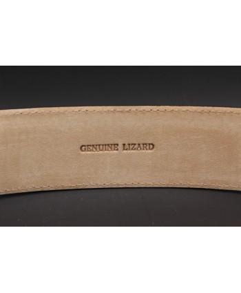 Black lizard skin belt width 40 - back detail