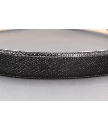 Black lizard skin belt width 40 - skin detail