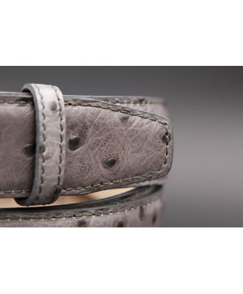 Grey Croco-style leather belt - detail