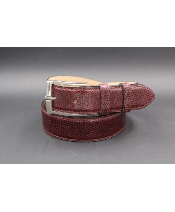 Plum Lizard Skin Belt width 30