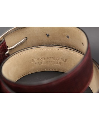 Plum Lizard Skin Belt width 30 - back detail