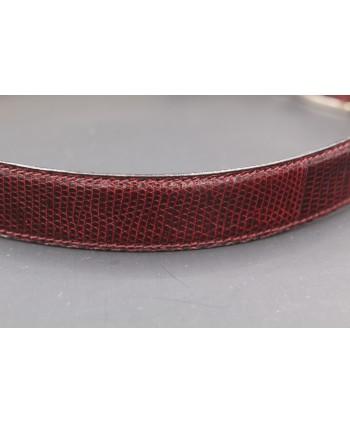 Plum Lizard Skin Belt width 30 - skin detail