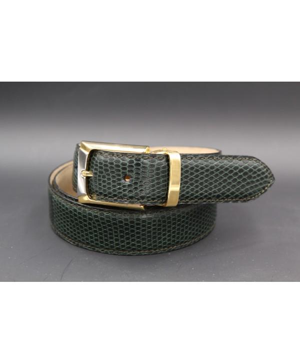 Green lizard skin belt width 30