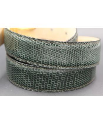 Green lizard skin belt width 30 - skin detail