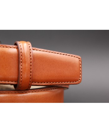 Gold smooth leather belt - detail
