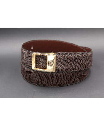 Torrente belt in brown lizard skin width 30