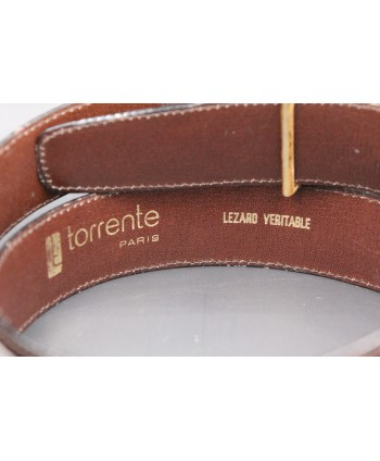 Torrente belt in brown lizard skin width 30 - back detail