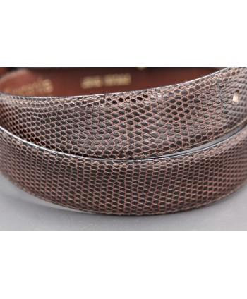 Torrente belt in brown lizard skin width 30 - skin detail