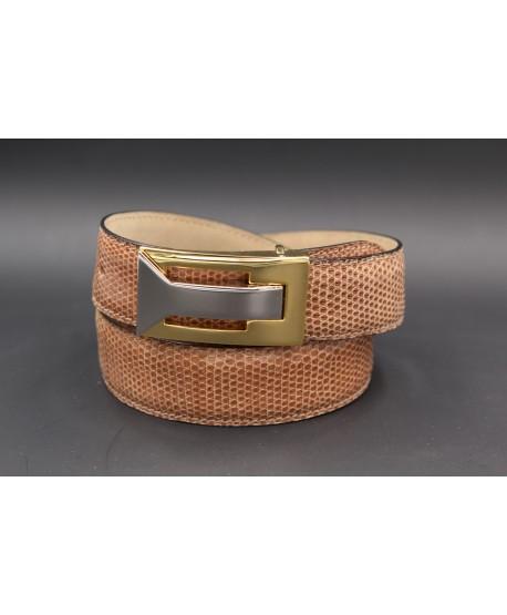 Belt in hazelnut lizard skin width 30