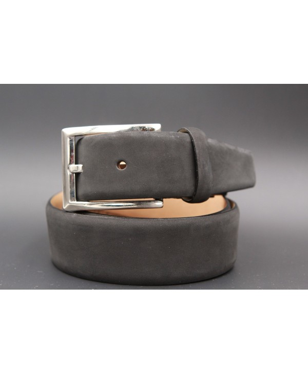 Grey nubuck belt