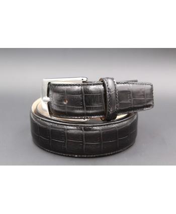 Ceinture TORRENTE réversible noir et marron boitier nickel - 29