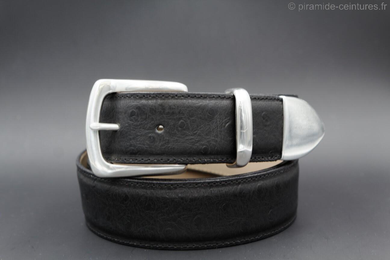 nouveau concept 87403 2854e Ceinture LAMARTHE réversible noir et marron boucle ardillon - LAM1S