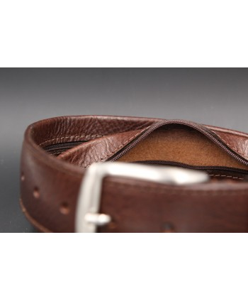 Brown money belt - detail 2