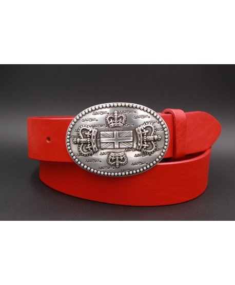 Red Large belt English buckle
