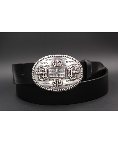 Black Large belt English buckle