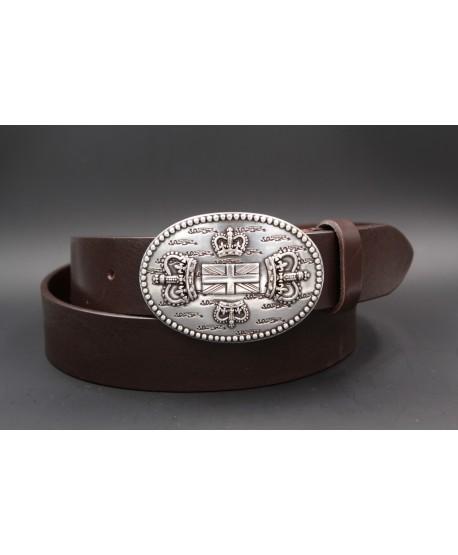 Dark brown Large belt English buckle