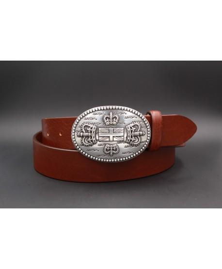 Brown Large belt English buckle
