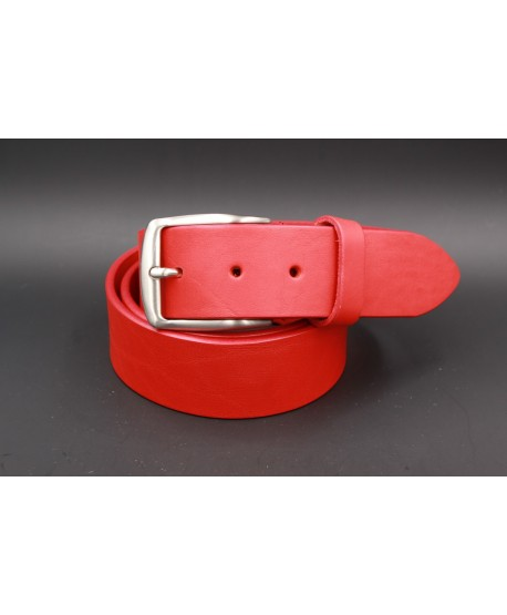 Large red leather belt