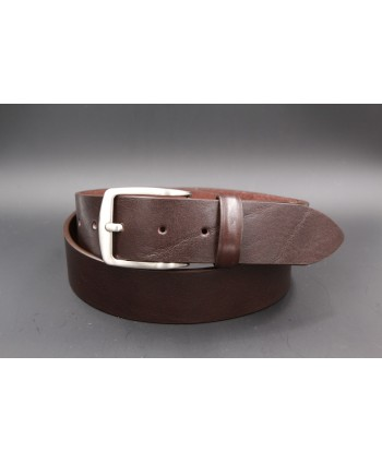 Large brown leather belt