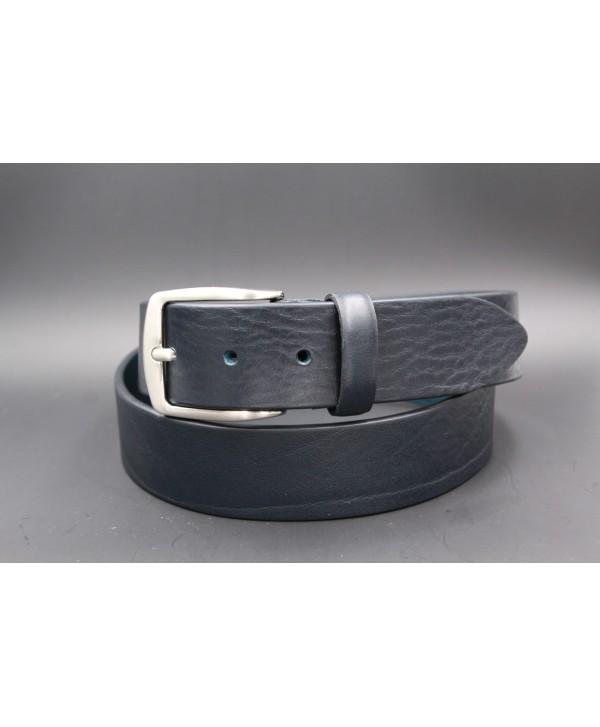Large navy leather belt