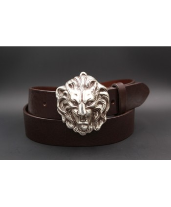 Large belt lion head buckle