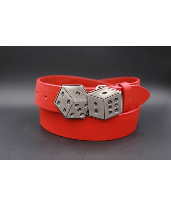 Large leather belt buckle dice