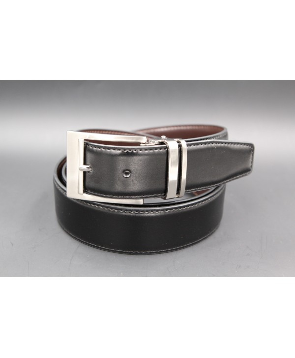 Reversible belt black brown - black side
