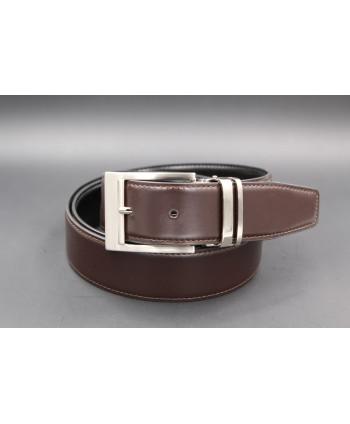 Reversible belt black brown - brown side