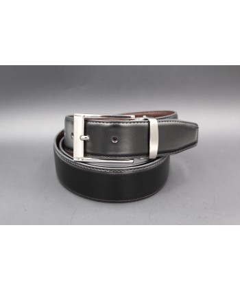 Reversible belt black brown 35 mm - black side