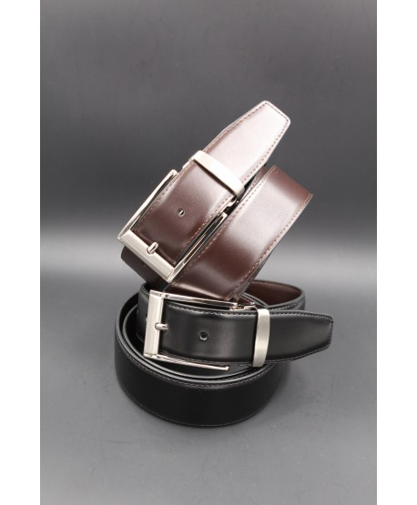 Reversible belt black brown 35 mm