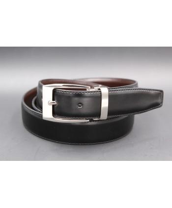 Reversible belt black brown 30 mm - black side