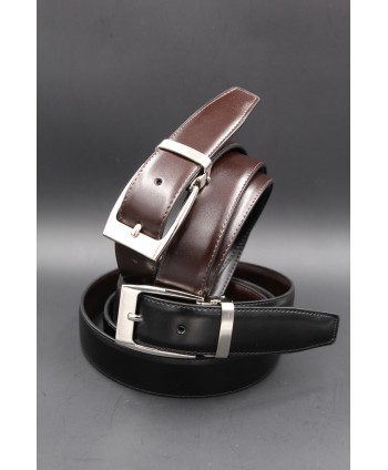 Reversible belt black brown 30 mm