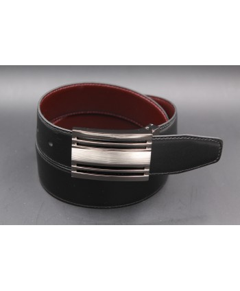Black - brown reversible belt 35mm - gun barrel case - black side