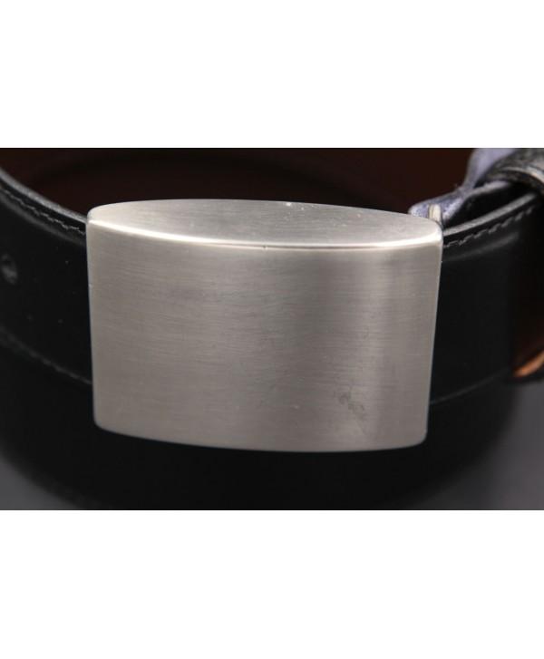 Ceinturon marine - Boucle ovale Union Jack nickel