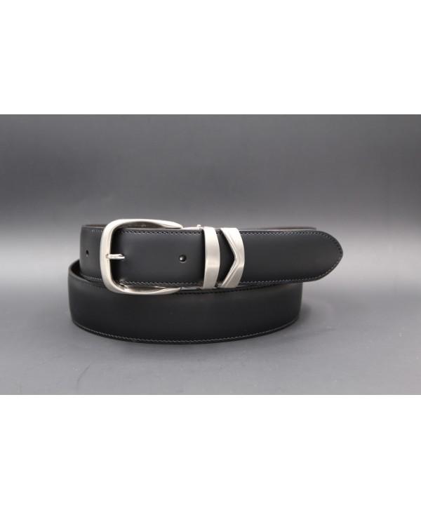Ceinture cuir réversible - côté noir