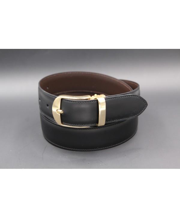 Reversible leather belt - black side