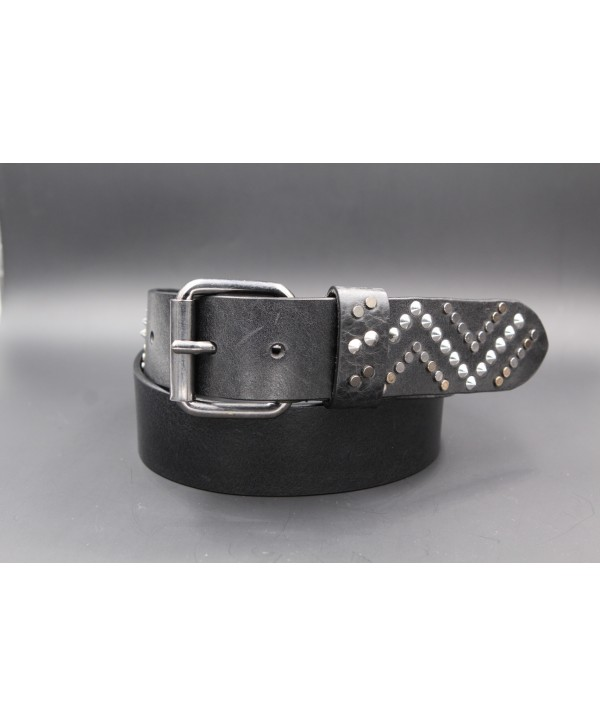 Black studded large belt