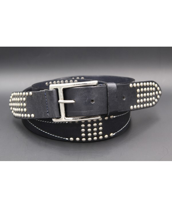 Ceinture Pierre Cardin daim marron - ardillon nickel