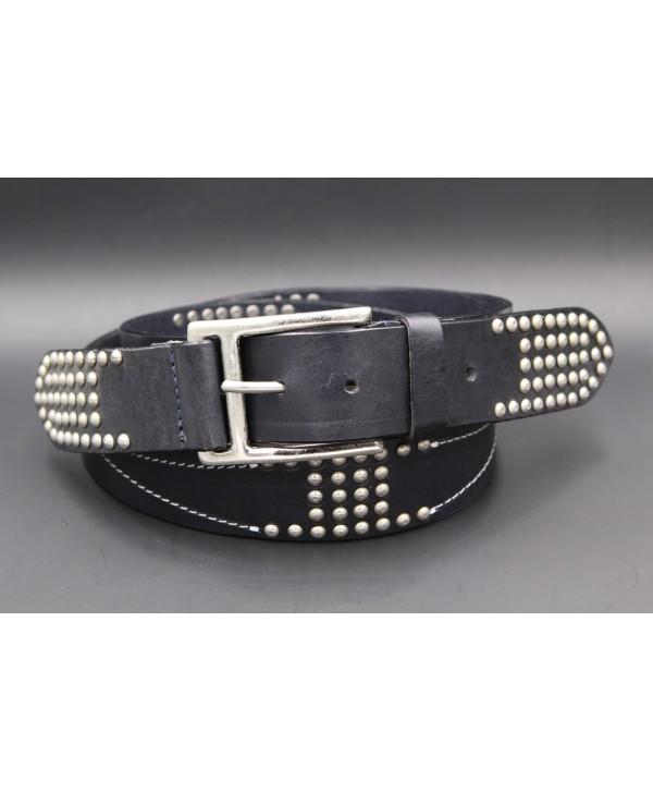 Black studded large belt