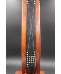 Ceinture Pierre Cardin cuir réversible noire et marron - ardillon nickel