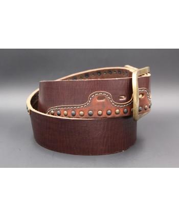 Ceinturon en cuir Western - détail