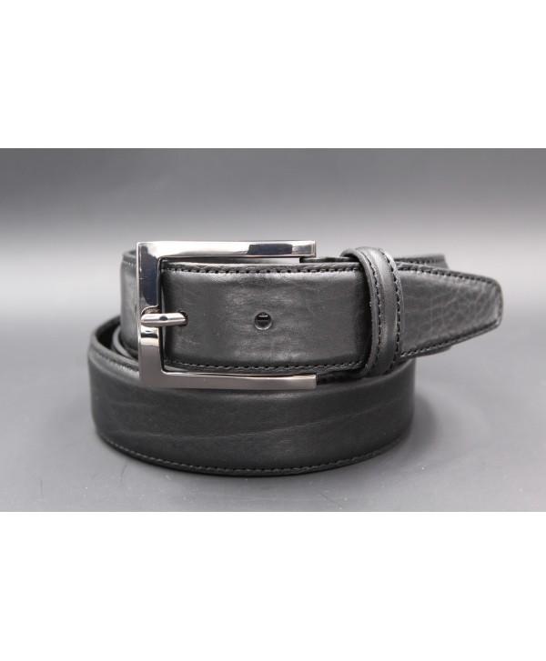 Black soft leather belt