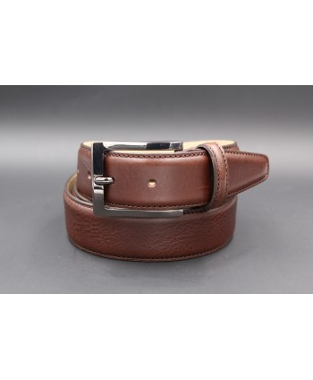 Brown soft leather belt