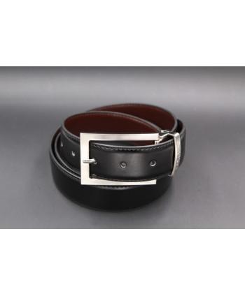 Reversible black and brown Lamarthe belt - LAM22