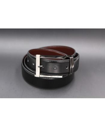 Reversible black and brown Lamarthe belt - LAM1S