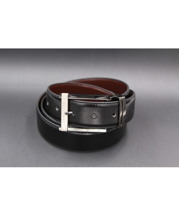 Reversible black and brown Lamarthe belt - LAM1S