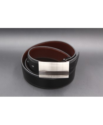 Reversible black and brown Lamarthe belt - LAM20