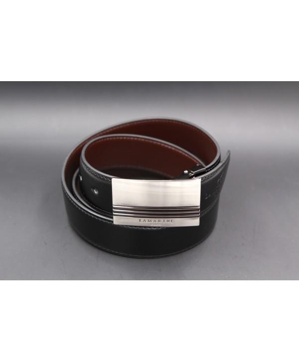 Reversible black and brown Lamarthe belt - LAM20