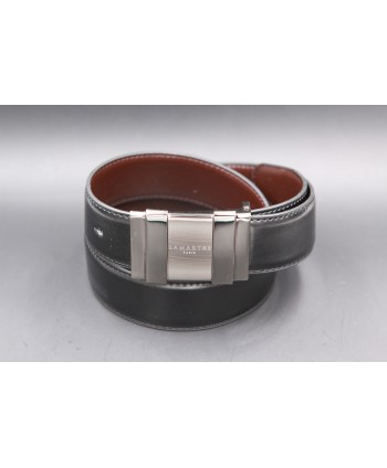 Reversible black and brown Lamarthe belt - LAM21